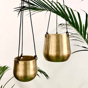 Brass Hanging Pot - Small