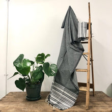 Load image into Gallery viewer, Fouta Towel, Wrap or Small Throw - Mid Grey Berber