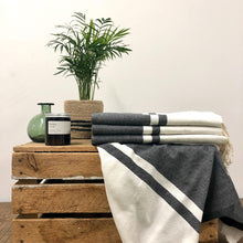 Load image into Gallery viewer, Fouta Towel, Wrap or Small Throw - Black & White