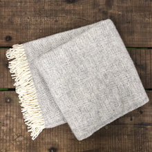 Load image into Gallery viewer, Wool Throw - Soft Grey