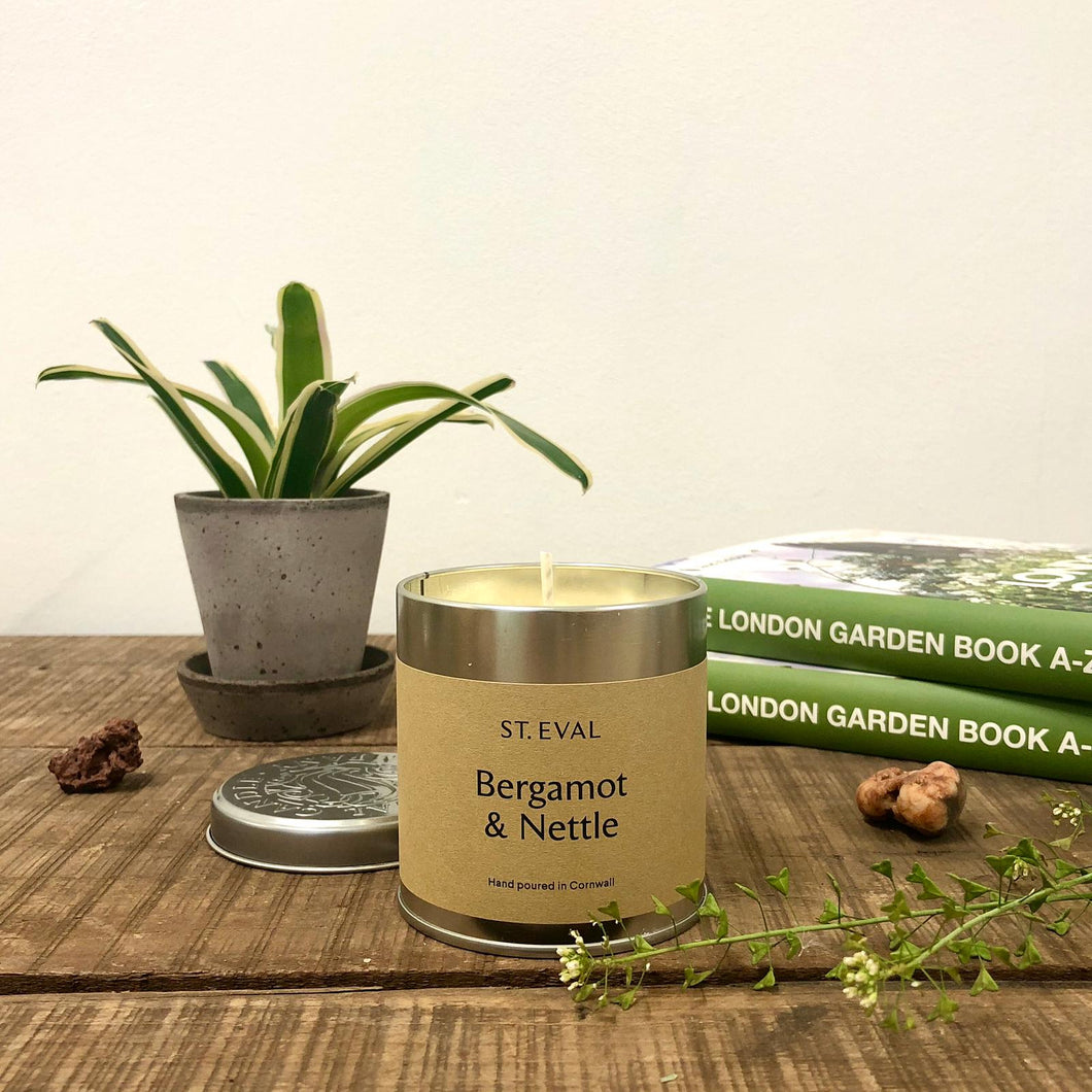 St. Eval - Bergamot & Nettle  Scented Tin Candle
