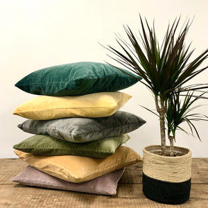 Velvet Cushion -  Emerald Green