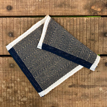 Load image into Gallery viewer, Handloom Place Mat - Navy & Jute
