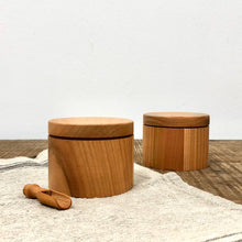 Load image into Gallery viewer, Cherry wood salt pot