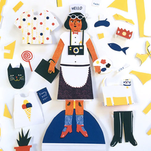 Load image into Gallery viewer, Cut Out & Dress Up Paper Doll