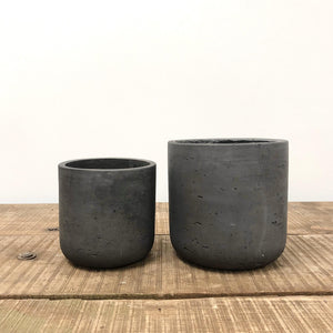 Dark Grey Concrete Pot