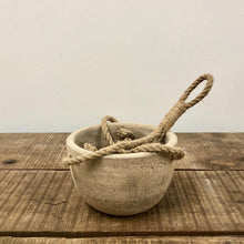 Load image into Gallery viewer, Clay Hanging Pot - Antique Grey