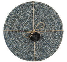 Load image into Gallery viewer, Hand Woven Circular  Placemat - Cornflower Blue