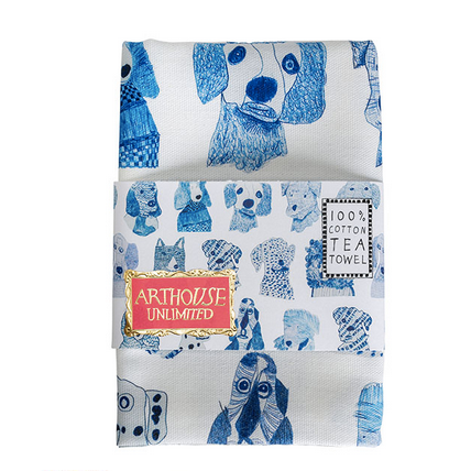 Blue Dogs Tea towel - Arthouse