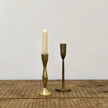 Load image into Gallery viewer, Golden Brass Candle Holder