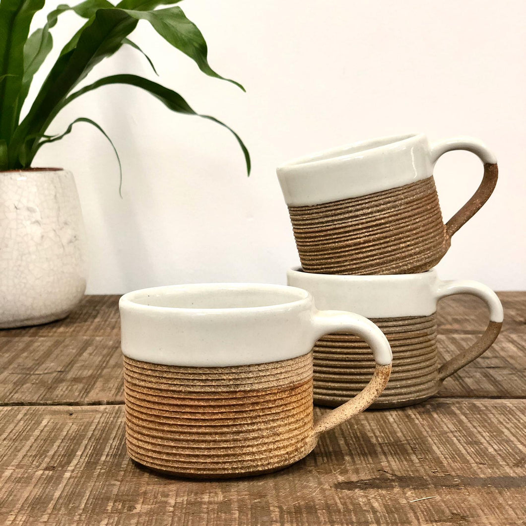 Mali Coffee Mug - Terrocotta & Off-White Glaze