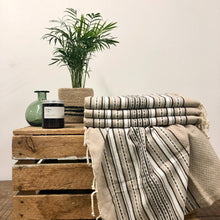 Load image into Gallery viewer, Fouta Towel, Wrap or Small Throw - Beige Berber