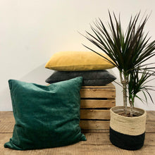 Load image into Gallery viewer, Velvet Cushion - Emerald Green