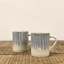 Load image into Gallery viewer, Etched Mug - Indigo & White Stripes