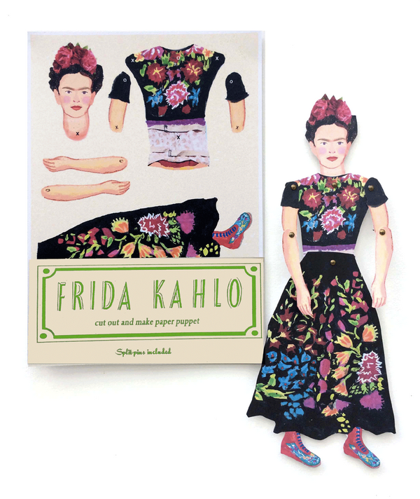 Frida Kahlo cut and make Puppet