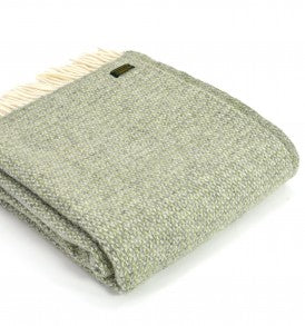 Wool Throw - Sage Green