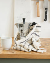 Load image into Gallery viewer, Cotton Waffle Teatowel  - Cream & Black