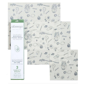 Beeswax Food Wrap - Abeego Mixed Pack