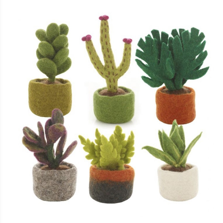 Felt decorations - Miniature plants
