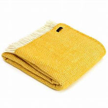 Load image into Gallery viewer, Pure New Wool Throw - Yellow