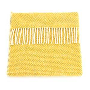 Pure New Wool Throw - Yellow