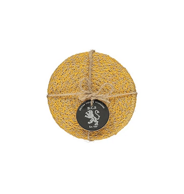 Hand Woven Circular Coasters - Indian Yellow