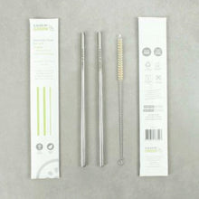 Load image into Gallery viewer, Stainless Steel Straws - Set of 2