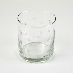 Water tumbler with stars