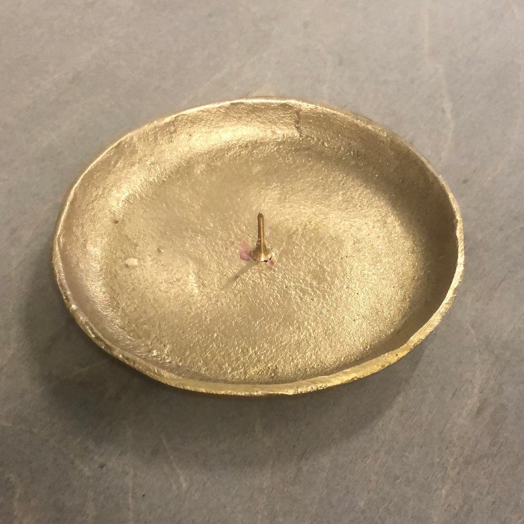 Brass Plate Candle Holder