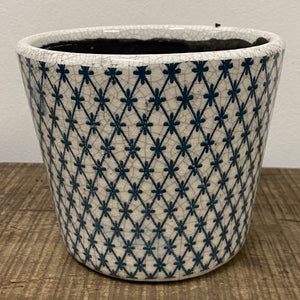 Old Style Dutch Pots - Teal pattern