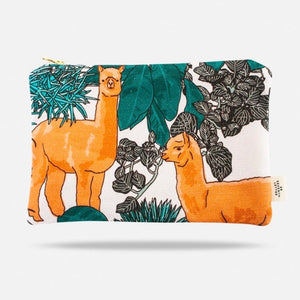 Animal Pattern Makeup Bag - Alpaca