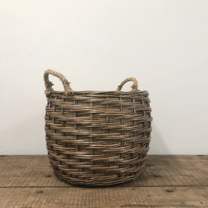 Large Willow Barrel with rope handles