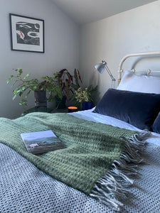 Wool Throw - Forest Green