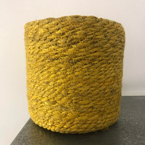 Woven Basket pot -Yellow