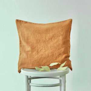 Linen Cushion Cover - Mustard