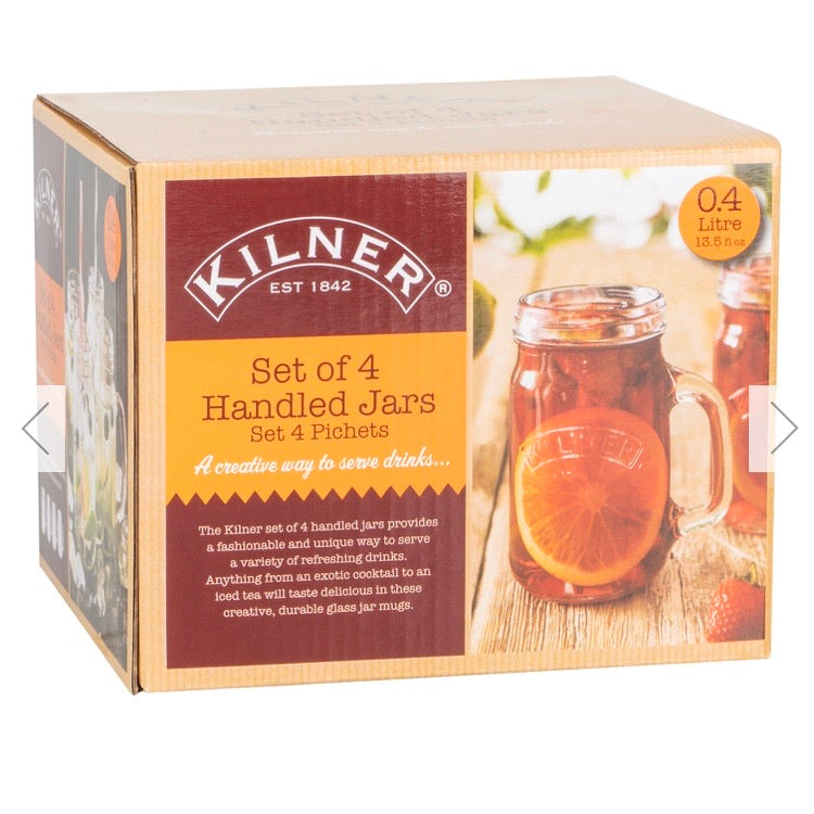 Kilner set of 4 handled jar