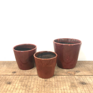 Alicante pots - Ruby Red