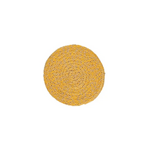 Load image into Gallery viewer, Hand Woven Circular Coasters - Indian Yellow