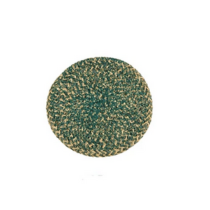 Hand Woven Circular Coasters - Olive Green
