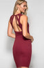 Sleeveless Dress with Back Cutout Detail - The Walk-in Boutique