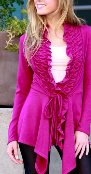 Ruffled Cardigan - The Walk-in Boutique