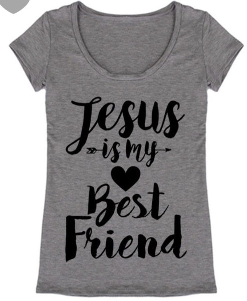 Jesus Is My Best Friend Tee - The Walk-in Boutique