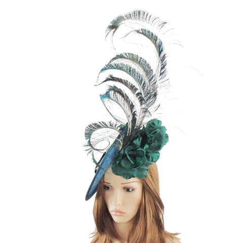 Blanche Peacock Ascot Fascinator Hat - Hats By Cressida