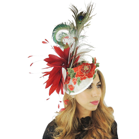Isabella Ascot Fascinator Hat - Hats By Cressida