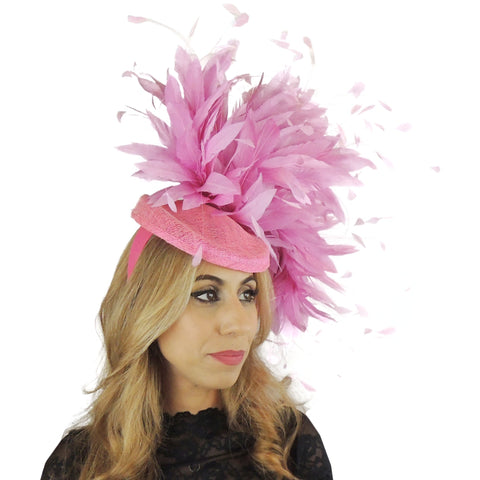 Bianca Large Feather Fascinator Hat