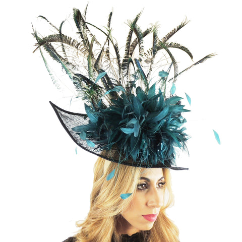 Juliet Peacock Fascinator Hat - Hats By Cressida