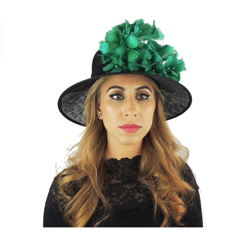 2019 Black & Jade Ascot Hat 112
