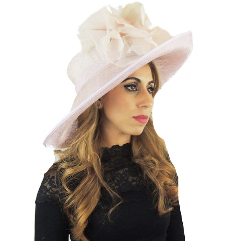 Lilac Silk Flower Ascot Hat