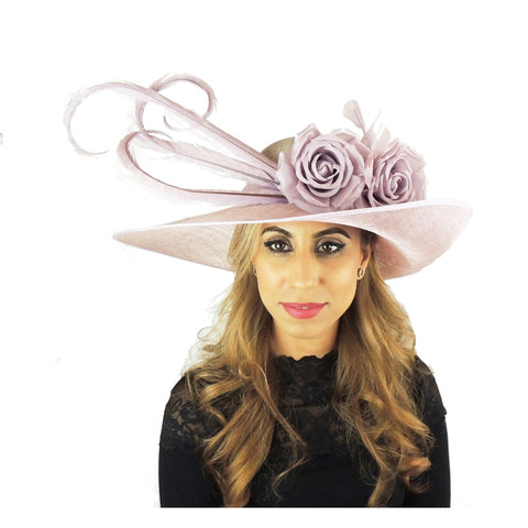 Fun Feather Lilac Ascot Derby Hat