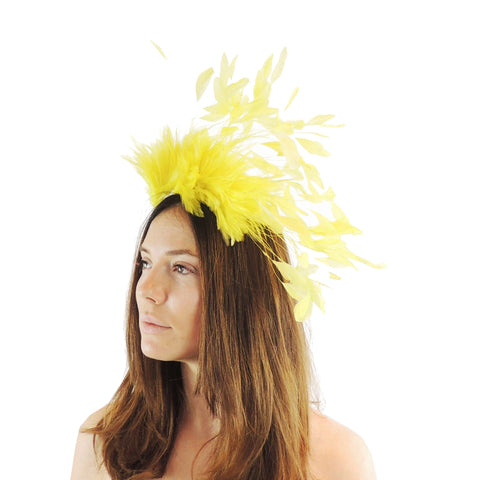 Desdemona Feather Fascinator - Hats By Cressida